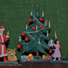 Figurines plates en plomb. Noël.