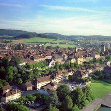 Photographie Aérienne par Cerf-Volant. Murat, Murten, Suisse.