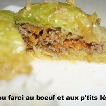 Petits Choux farcis au boeuf et p'tits légumes (3 PPc)