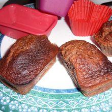 Mini Cakes au Chocolat fourrés au Pralin de Noisettes