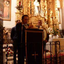 Homenaje de la Hermandad Virgen de los Dolores a Manuel Reyes.