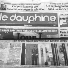 "Article de presse "" le dauphiné "" Grenoble"