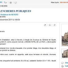 Ensemble immobilier adjugé à Nevers
