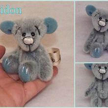 Cupidon ours d'artiste miniature