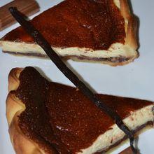 Tarte au fromage blanc et pralinoise
