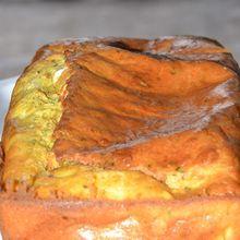 Tendre cake curry cumin courgettes et féta
