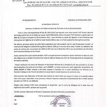 L'UST repond au menace du ministre de l'intérieur.