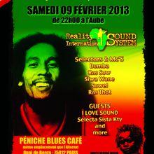 Soirée reggae sound system - Hommage à Bob Marley - samedi 9 février 2013 - Paris - péniche Blues Café