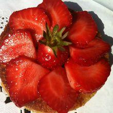 tartelette de pain perdu aux fraises (ou kiwis)
