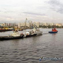 La corvette lance-missiles Volgodonsk entame ses essais en mer.