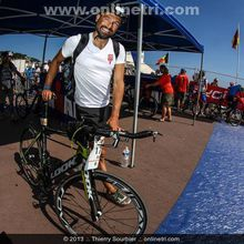 Anthony sur l'Ironman de Nice
