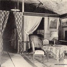 La salle à manger et la chambre d'amis, dans l'appartement souterrain de Mr Henri Abelé.