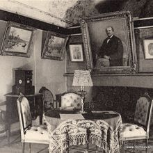 Le salon de l'appartement souterrain de Mr Henri Abelé.