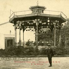 Exposition industrielle de Reims 1903 - Le Kiosque des Marronniers