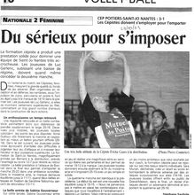 Sport - Centre Presse - CEP Volley-Ball - Octobre 2001