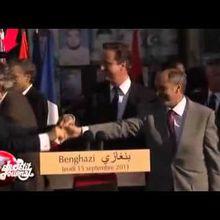 BHL se fait virer deux fois de la tribune à Tripoli (Canal +)
