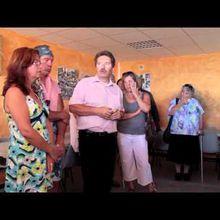 Robion : inauguration du gîte et repas festif (organisation la Robionnaise), discours de Gilbert Sauvan (inauguration)