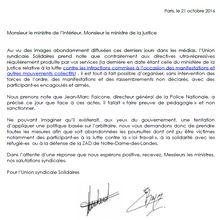 Liberté de manifester : Solidaires adresse un courrier aux ministres de l'intérieur et de la justice