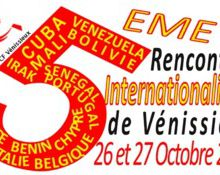 5emes rencontres internationalistes de Vénissieux : Patriotisme, Internationalisme, Partis Communistes, Europe, Résistances et Guerres impérialistes... 26 et 27 Octobre 2012