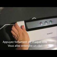 Vidéo de l'appareil qui met sous vide et soude les sacs, silvercrest (lidl)