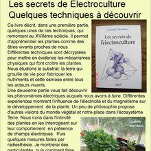 pour les jardiniers;l'electroculture...