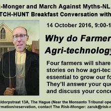 La voix des agriculteurs près du « Tribunal Monsanto »