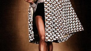 Ethnic Models ~ Naomie Campbell shows off Mary Katrantzou Fall 2012 Ready-to-Wear Collection