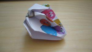 Origami : fraise et grenouille