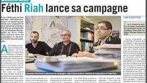 Municipales 2014 : notre candidature présentée dans le Phare Dunkerquois