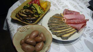 Raclette végétarienne au saint nectaire