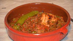 salade de poivron algerienne à la purée d'ail,recette de hmiss