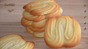 "biscuits sablés ""W"",biscuits faciles"