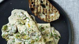 Pâtes champignons et poireaux de Gordon Ramsay