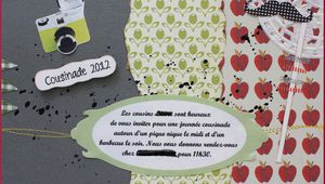 Carte d'invitation cousinade 2012