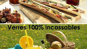 Optez pour des verres 100% incassables autour de la piscine, piques-niques, barbecues...