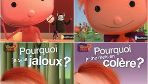 Giovanna et Giulia lisent Faut-il toujours obéir ? Pourquoi je dois aller à l'école ? Pourquoi je suis jaloux ? Pourquoi de me mets en colère ?