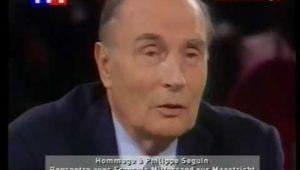 Débat F Mitterant/P Seguin sur l'Europe 1992 en vidéo