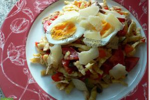 Flaure a testé.... la salade de pâtes aux maquereaux et aux légumes