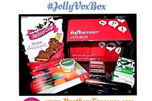 My #JollyVoxBox from @Influenster came in! :-D  Loved the #SkinnyCow chocolates! And I'm about to try the #DuckTape in a #DYI project! I've always loved #PuffsTissues! They are always so convenient ☺️