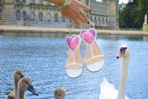 Romantic #sandals by @louboutinworld 💗 #love #summer #heart #louboutinworld #EnterLouboutinWorld