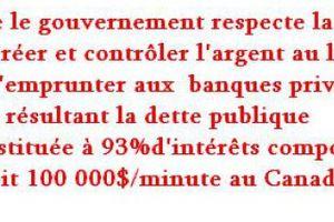 Pétition pour l'annulation de la dette au Québec