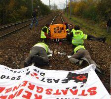 """Caen : Rassemblement de soutien pour le procès en appel des """"7 du Ganva"""" pour le blocage d'un train Castor"""