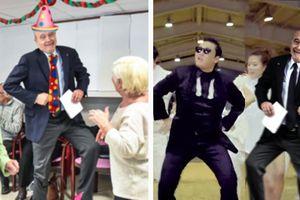 Ces photos d'Alain Juppé qui danse dans une maison de retraite valent le détour(nement)