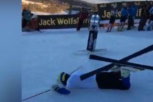 VIDÉO. La chute ridicule du skieur suédois André Myhrer a amusé Julien Lizeroux