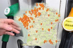 La carte en temps réel des stations-service en pénurie de carburants près de chez vous [EXCLUSIF]