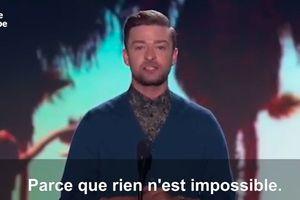 L'émouvant discours de Justin Timberlake en faveur de la tolérance aux Teen Choice Awards