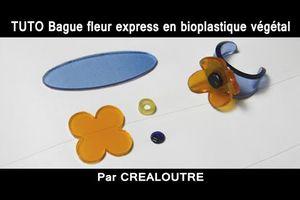TUTO Bague fleur express en bioplastique végétal