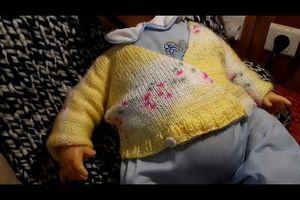 Brassière croisée au tricot facile