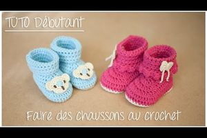 Bottines bébé au crochet