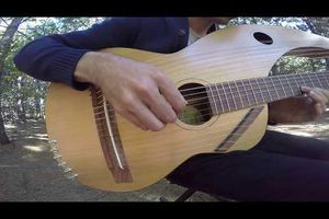 The Sound of Silence - 18 String Harp Guitar Cover...